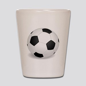 soccer ball large Shot Glass