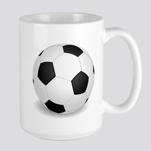 soccer ball large Mugs