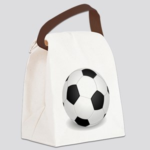 soccer ball large Canvas Lunch Bag