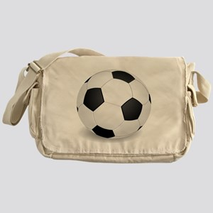 soccer ball large Messenger Bag