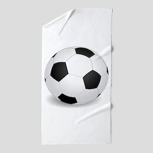 soccer ball large Beach Towel