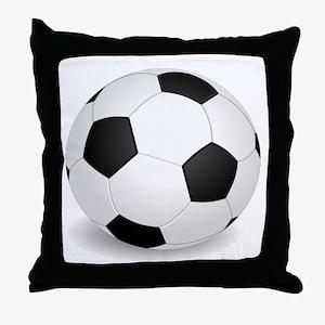 soccer ball large Throw Pillow