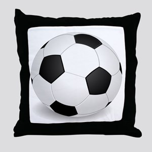 soccer ball large Throw Pillow