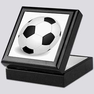 soccer ball large Keepsake Box