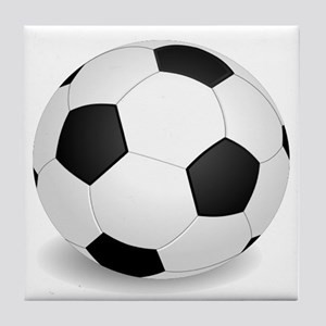 soccer ball large Tile Coaster