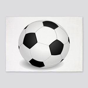 soccer ball large 5'x7'Area Rug
