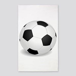 soccer ball large 3'x5' Area Rug