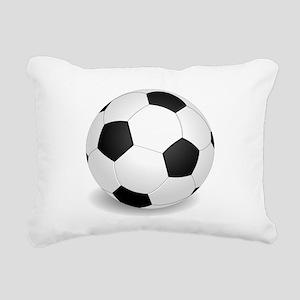 soccer ball large Rectangular Canvas Pillow