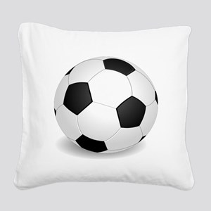 soccer ball large Square Canvas Pillow
