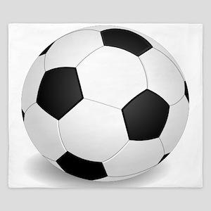 soccer ball large King Duvet