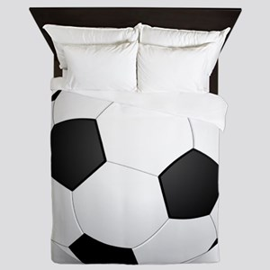 soccer ball large Queen Duvet