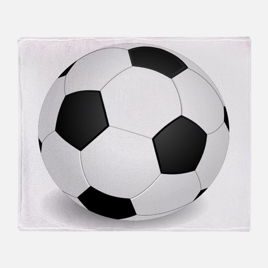soccer ball large Throw Blanket