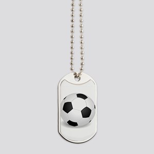 soccer ball large Dog Tags