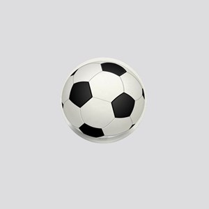 soccer ball large Mini Button