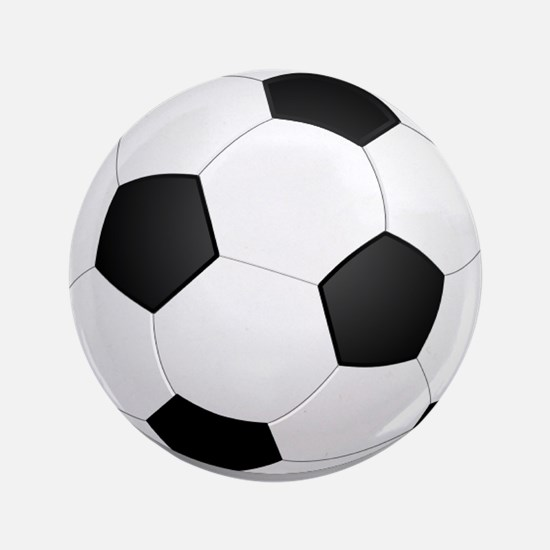 """soccer ball large 3.5"""" Button"""