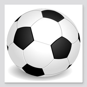 "soccer ball large Square Car Magnet 3"" x 3"""