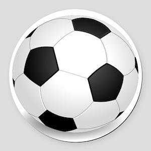 soccer ball large Round Car Magnet