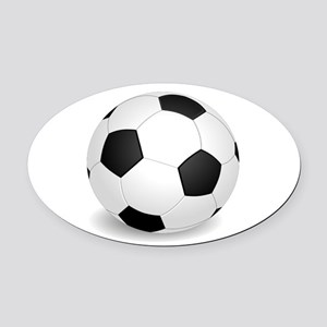 soccer ball large Oval Car Magnet