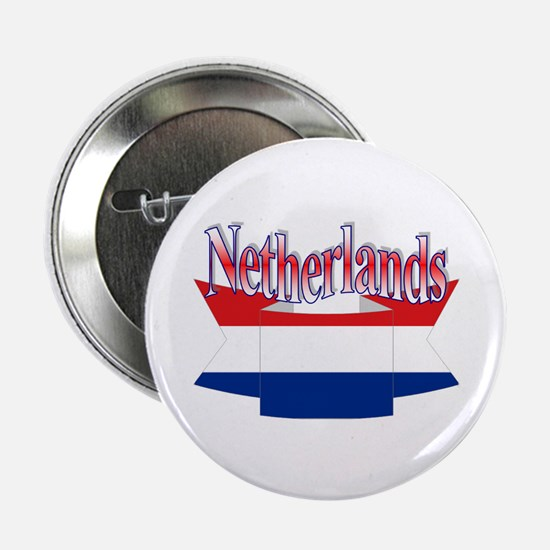 Netherlands flag ribbon Button