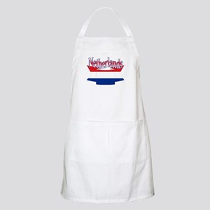 Netherlands flag ribbon BBQ Apron