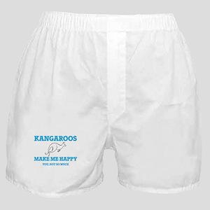 Kangaroos Make Me Happy Boxer Shorts
