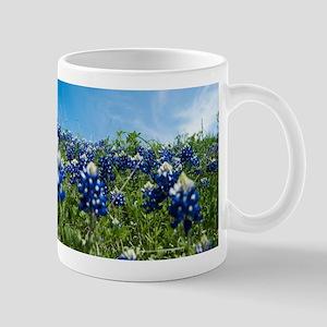 texas bluebonnet field Mugs