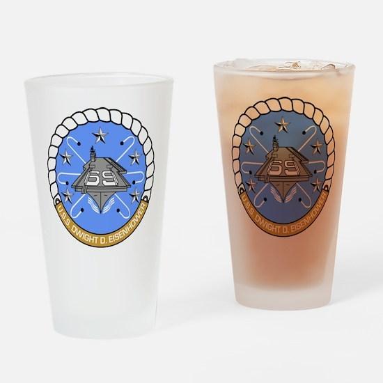 USS Dwight D. Eisenhower CVN-69 Drinking Glass