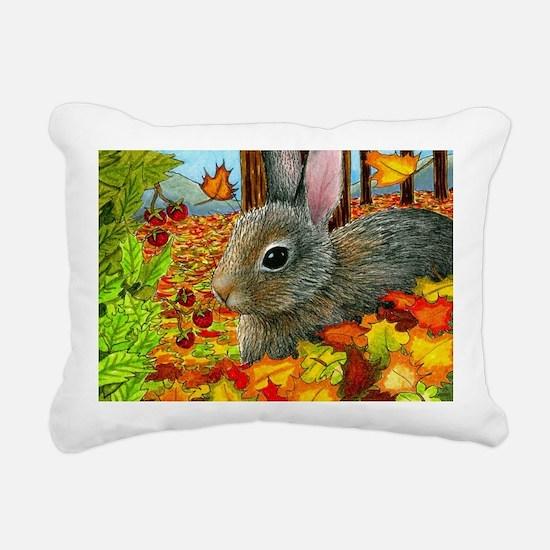 Hare 40 rabbit fall Rectangular Canvas Pillow