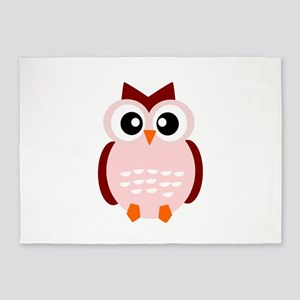 CUTE OWL 5'x7'Area Rug