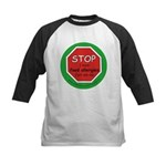 STOP I have food allergies. Kids Baseball Jersey