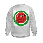 STOP I have food allergies. Kids Sweatshirt
