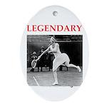 tennis Ornament (Oval)