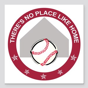 """No place like home: Square Car Magnet 3"""" x 3"""""""