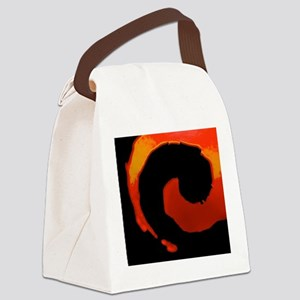 Spiral Of Flame Canvas Lunch Bag
