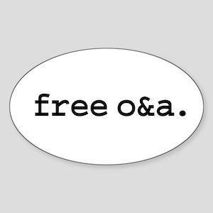 free o&a. Oval Sticker