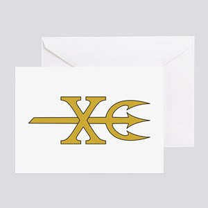 ST-10 Trident Greeting Cards (Pk of 10)