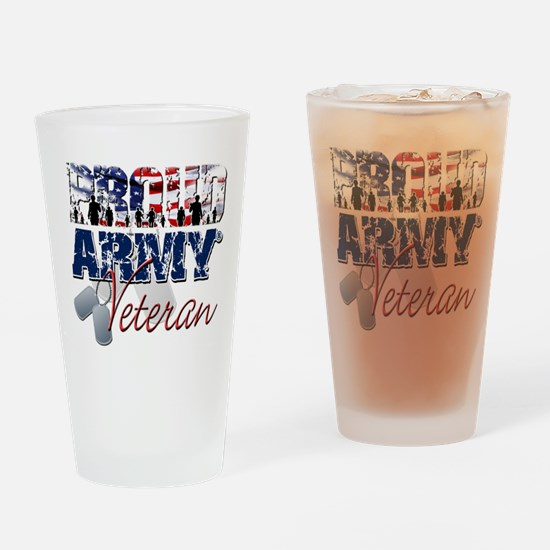 ProudArmyVeteran Drinking Glass