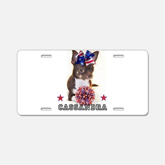 Cheer Chihuahua Dog Aluminum License Plate