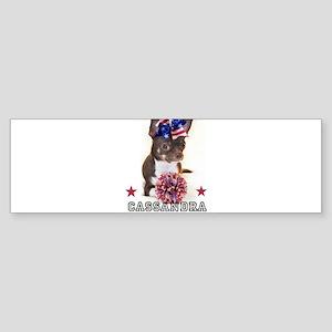Cheer Chihuahua Dog Bumper Sticker