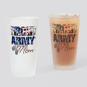 ProudArmyMom Drinking Glass
