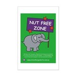 Nut Free Zone Mini Poster Print