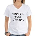 Barbell Sweat & Tears Women's V-Neck T-Shirt