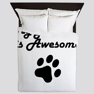 My Brittany Is Awesome Queen Duvet