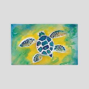 Baby Sea Turtle Hi 3'x5' Area Rug