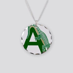 A......alligator Necklace Circle Charm