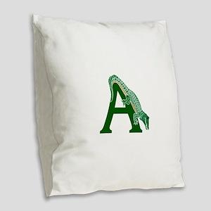 A......alligator Burlap Throw Pillow