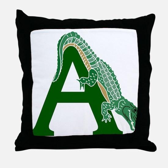 A......alligator Throw Pillow