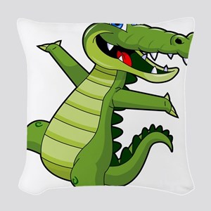 ALLIGATOR147 Woven Throw Pillow