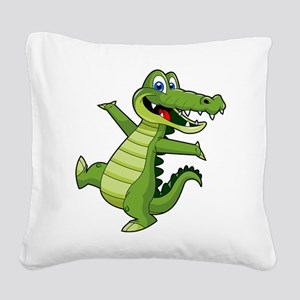 ALLIGATOR147 Square Canvas Pillow