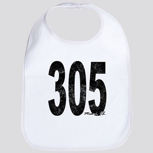 Distressed Miami 305 Bib